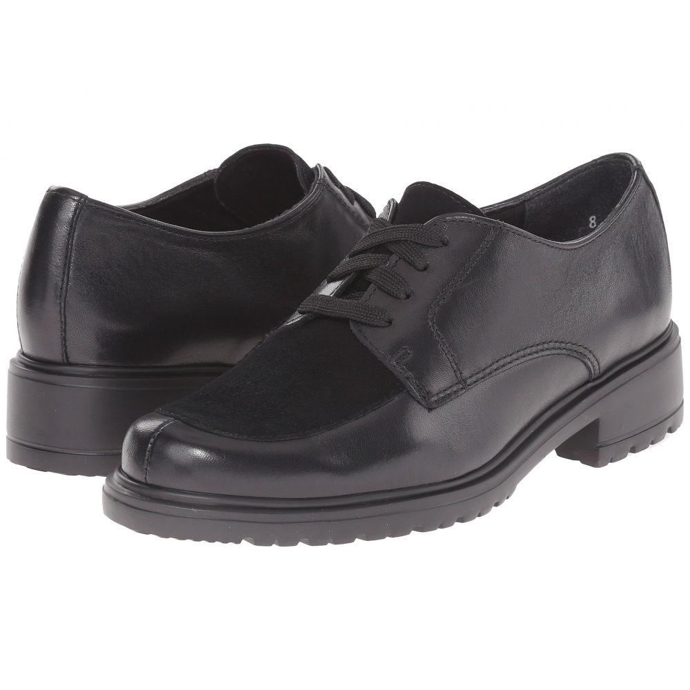 マンロー Munro レディース ローファー・オックスフォード シューズ・靴【Veranda】Black Leather/Suede