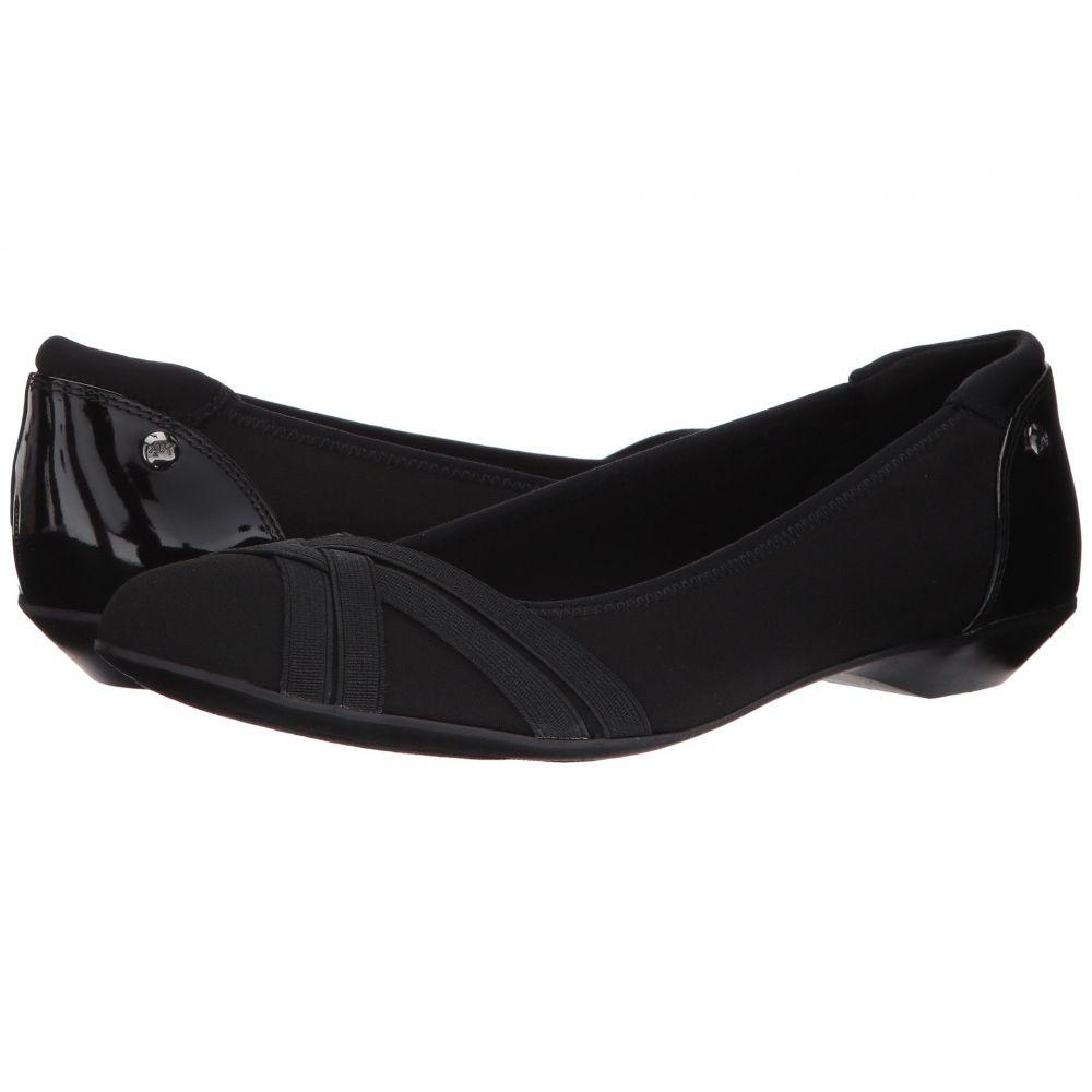 アン クライン Anne Klein レディース スリッポン・フラット シューズ・靴【Olizer】Black Multi Fabric