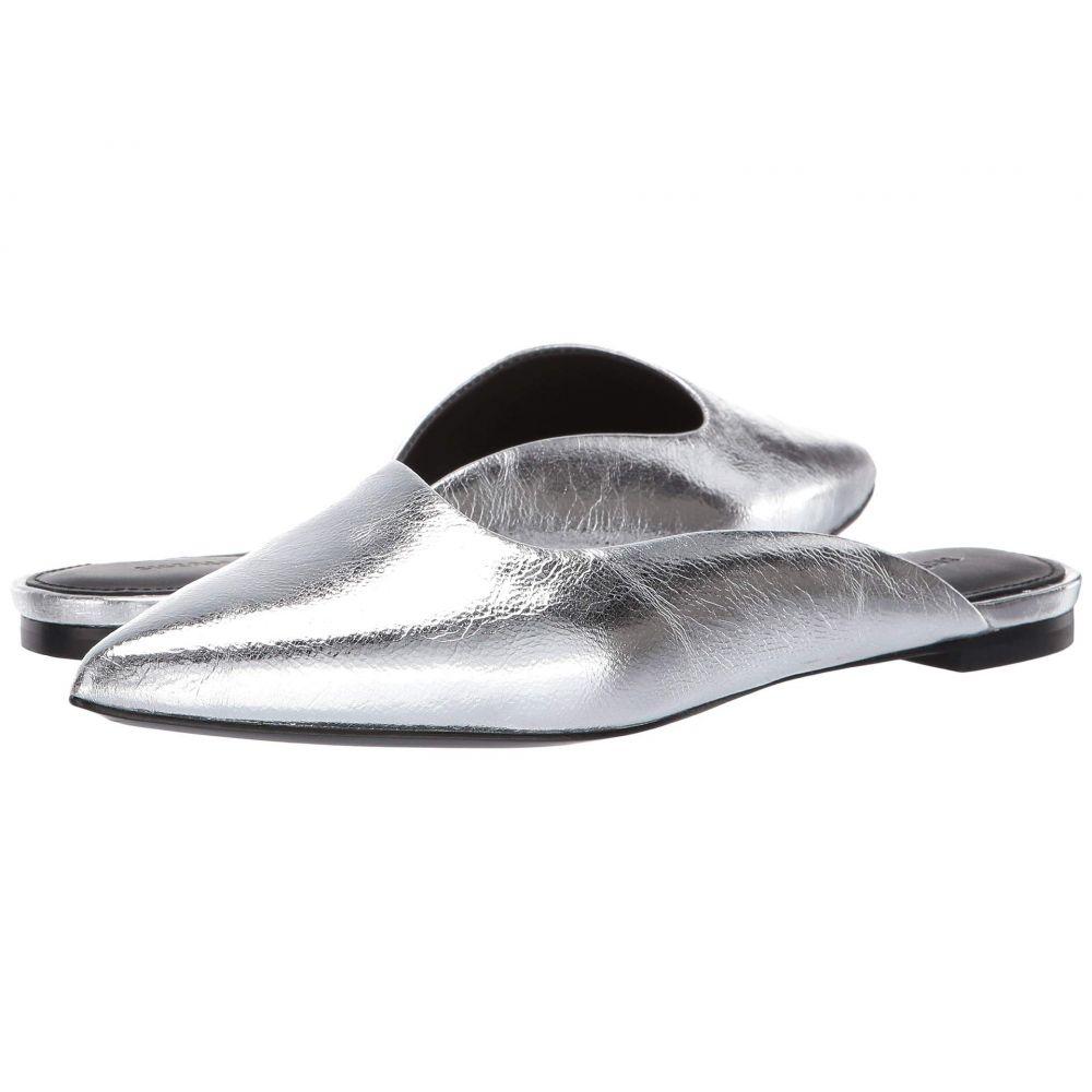 シガーソン モリソン Sigerson Morrison レディース サンダル・ミュール シューズ・靴【Sheryl Flat Mule】Silver Specchio
