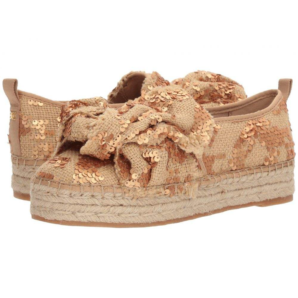 サム エデルマン Sam Edelman レディース スリッポン・フラット シューズ・靴【Cabrera】Molten Gold Sequin Burlap