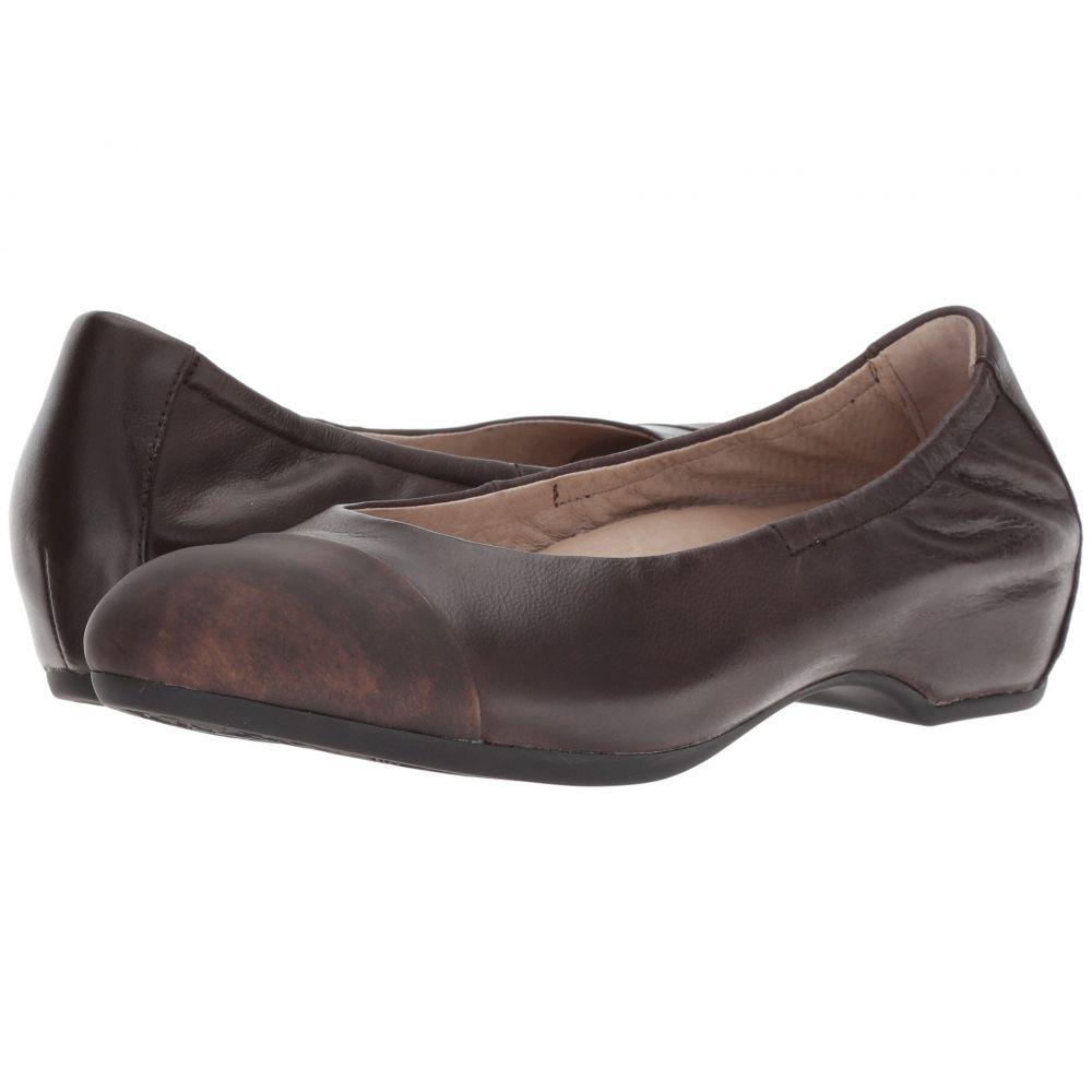 ダンスコ Dansko レディース スリッポン・フラット シューズ・靴【Lisanne】Chocolate Burnished Nubuck