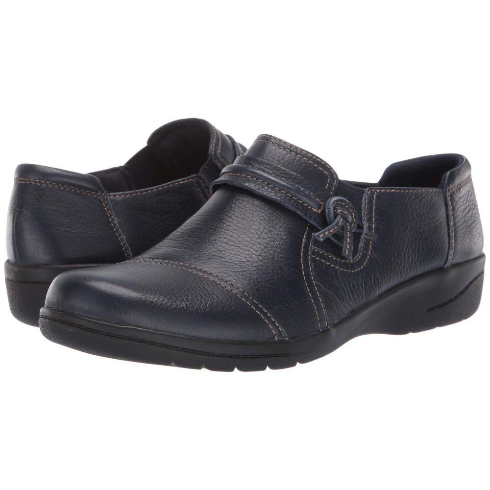 クラークス Clarks レディース ローファー・オックスフォード シューズ・靴【Cheyn Madi】Navy Tumbled Leather