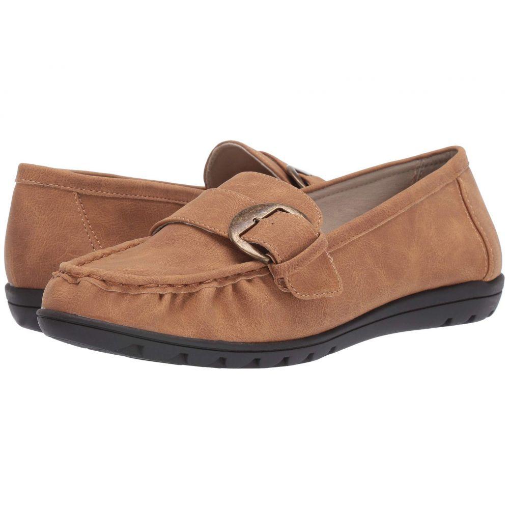 ソフトスタイル Soft Style レディース ローファー・オックスフォード シューズ・靴【Vivid】Tan Nubuck