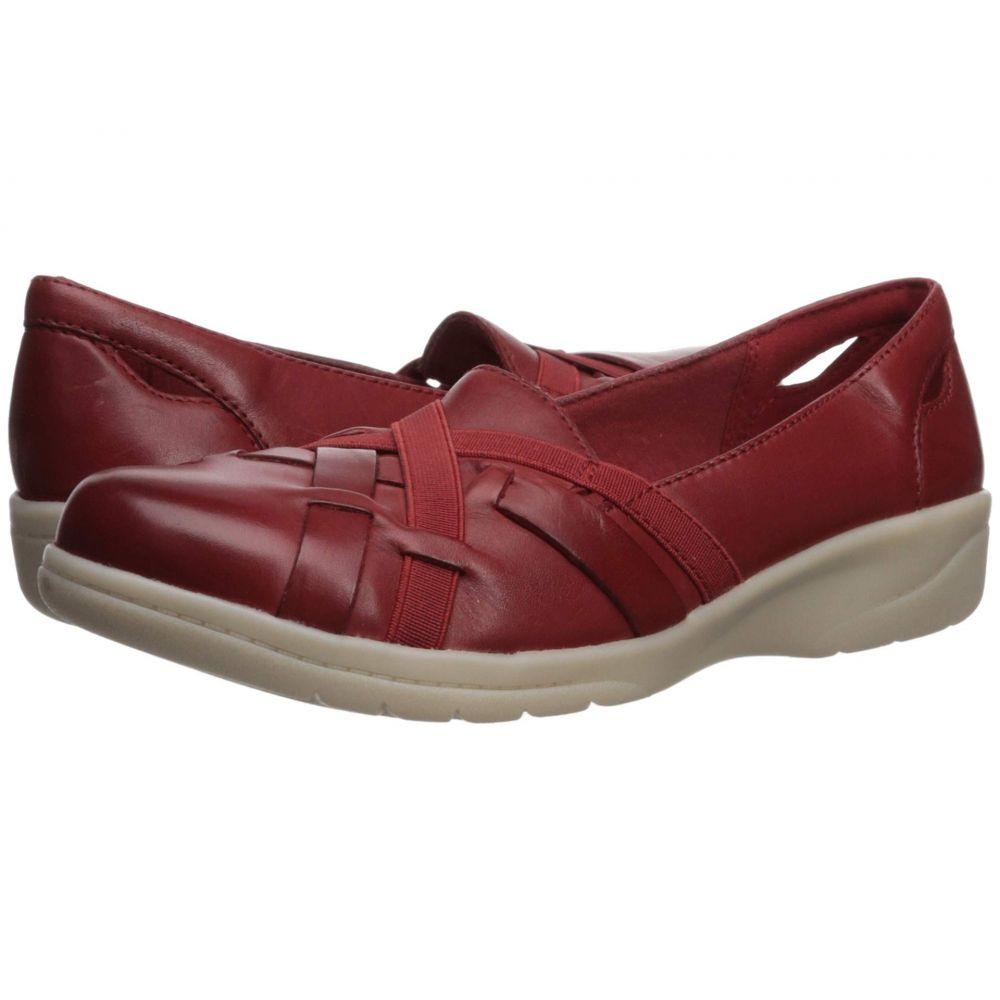 クラークス Clarks レディース ローファー・オックスフォード シューズ・靴【Cheyn Creek】Red Leather
