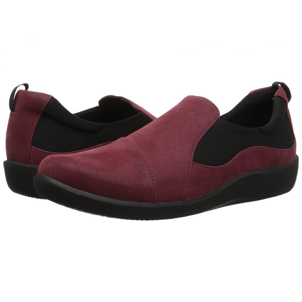 クラークス Clarks レディース ローファー・オックスフォード シューズ・靴【Sillian Paz】Burgundy Synthetic Nubuck