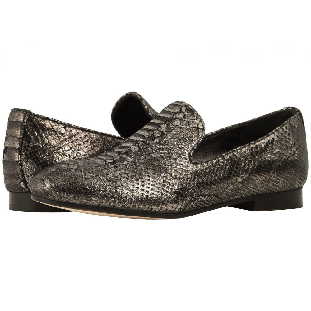 ジョンストン&マーフィー Johnston & Murphy レディース ローファー・オックスフォード シューズ・靴【Sierra】Graphite Italian Metallic Snake Print Suede
