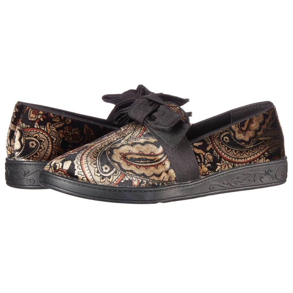 ソフトスタイル Soft Style レディース ローファー・オックスフォード シューズ・靴【Pazazz】Black Paisley Velvet