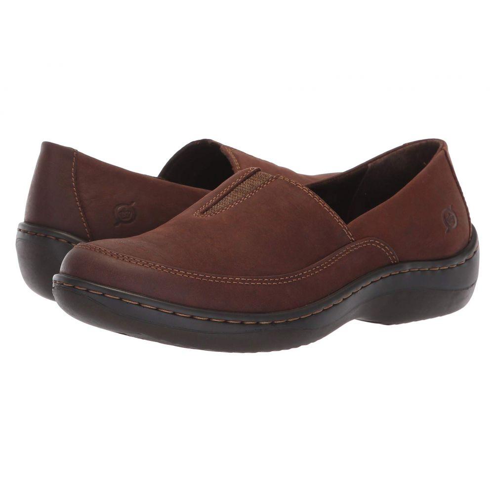 ボーン Born レディース ローファー・オックスフォード シューズ・靴【Lex】Dark Brown Nubuck