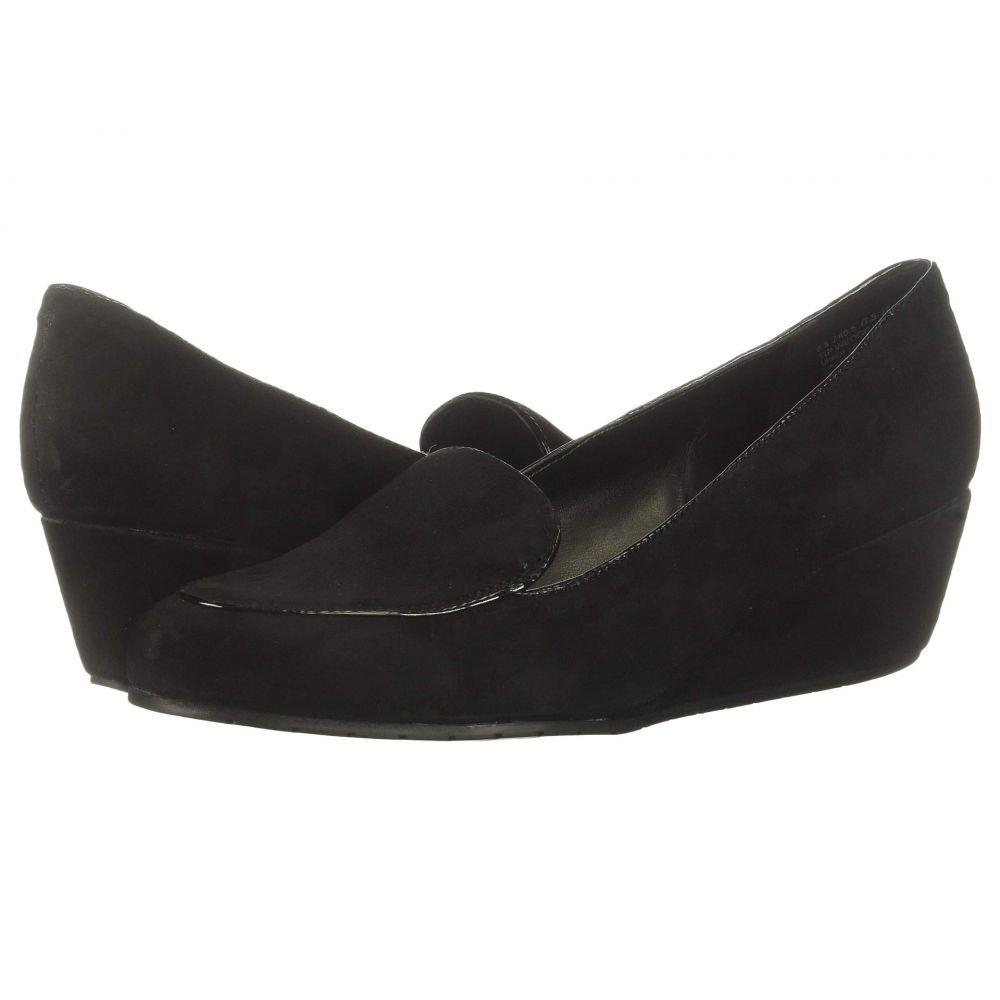 ケネス コール Kenneth Cole Reaction レディース ローファー・オックスフォード ウェッジソール シューズ・靴【Tip Wedge Loafer】Black Suede