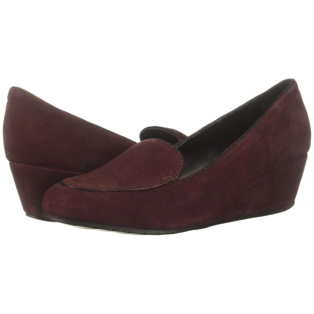 ケネス コール Kenneth Cole Reaction レディース ローファー・オックスフォード ウェッジソール シューズ・靴【Tip Wedge Loafer】Burgundy Suede