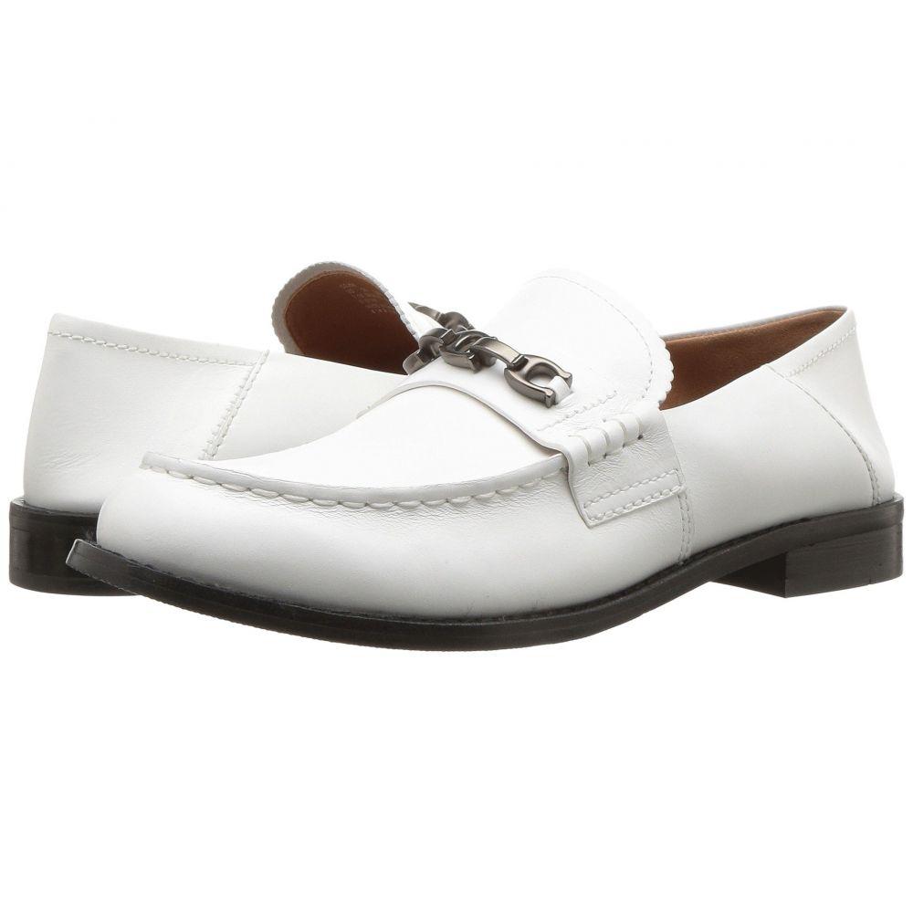 コーチ COACH レディース ローファー・オックスフォード シューズ・靴【Putnam Loafer with Signature Chain】White Leather