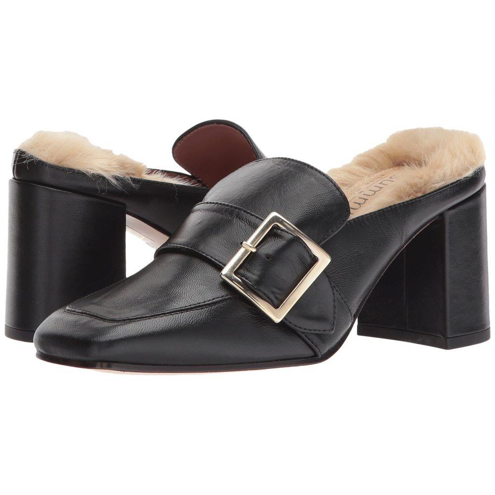 ホワイトマウンテン Summit by White Mountain レディース ローファー・オックスフォード シューズ・靴【Macey】Black Leather/Fur