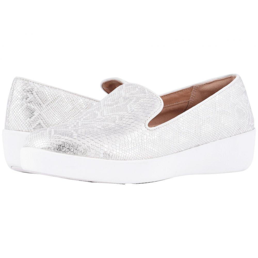 フィットフロップ FitFlop レディース エスパドリーユ シューズ・靴【Audrey Python Print Smoking Slippers】Urban White