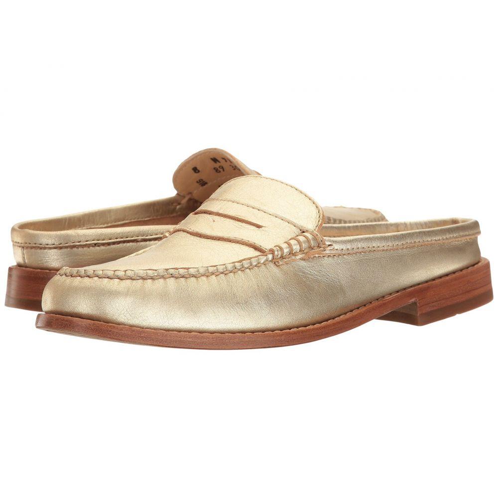 ジーエイチ バス G.H. Bass & Co. レディース ローファー・オックスフォード シューズ・靴【Wynn Weejuns】Gold Metallic Leather