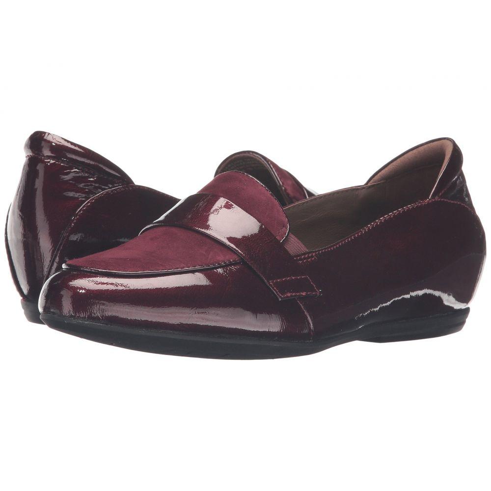 カルソーアースシューズ Earth レディース ローファー・オックスフォード シューズ・靴【Bremen ies】Burgundy Crinkled Patent