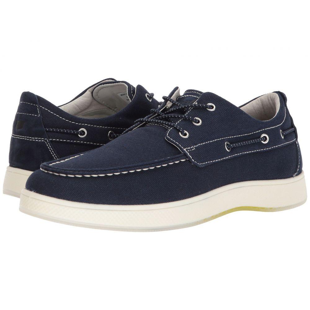 フローシャイム Florsheim メンズ デッキシューズ モックトゥ デッキシューズ シューズ・靴【Edge Moc Toe Boat Shoe】Navy Canvas/Navy Nubuck