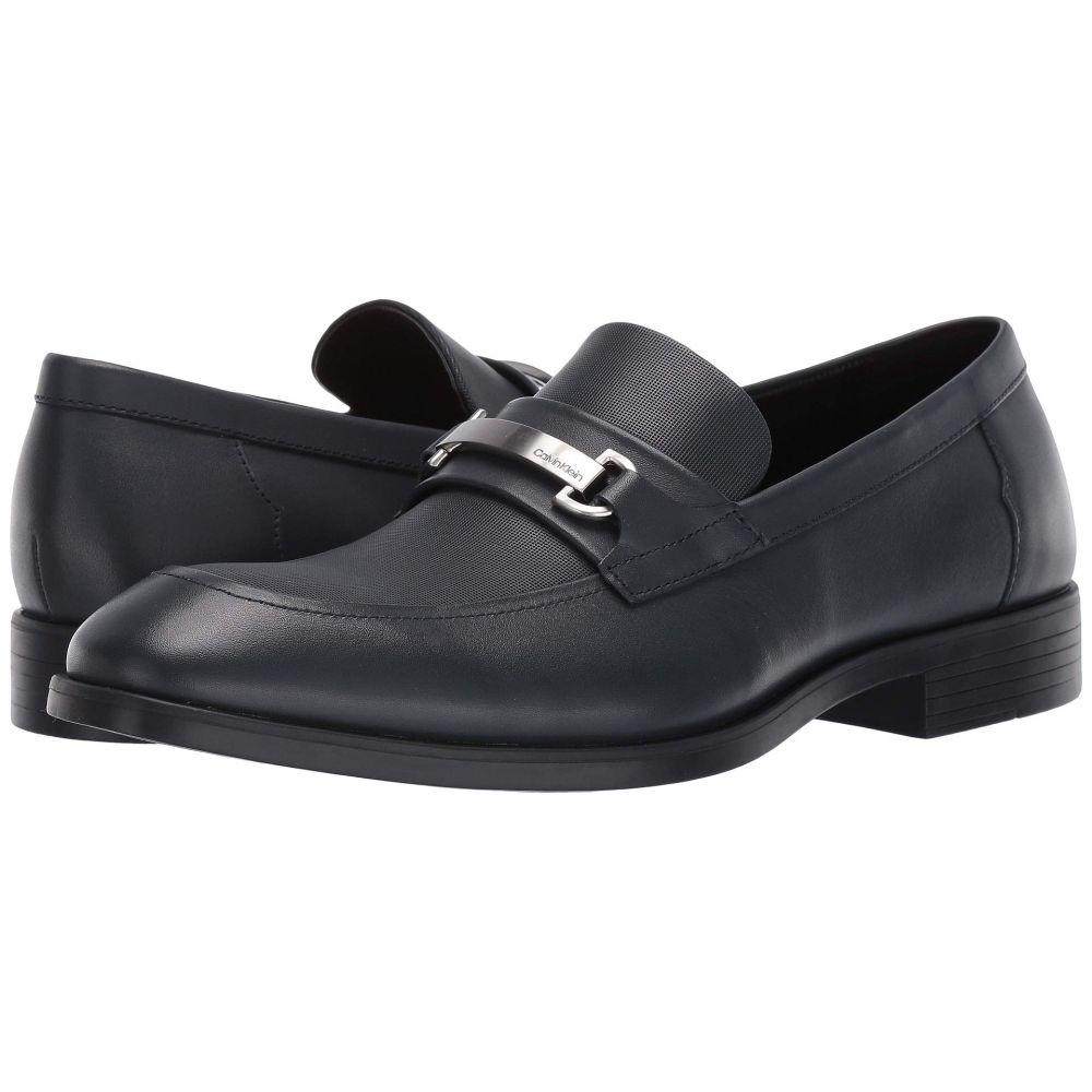 カルバンクライン Calvin Klein メンズ ローファー シューズ・靴【Craig】Dark Navy Dress Calf/Small Grid Emboss
