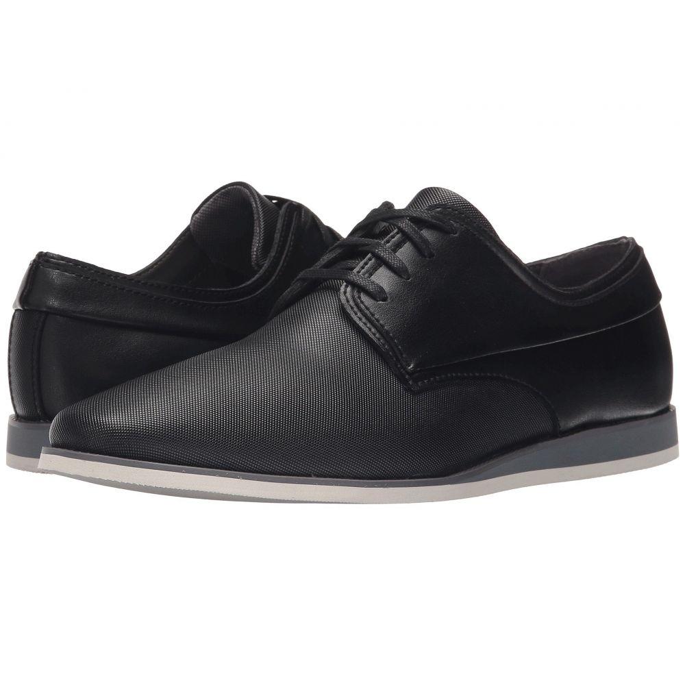 カルバンクライン Calvin Klein メンズ 革靴・ビジネスシューズ シューズ・靴【Kellen】Black Emboss Leather