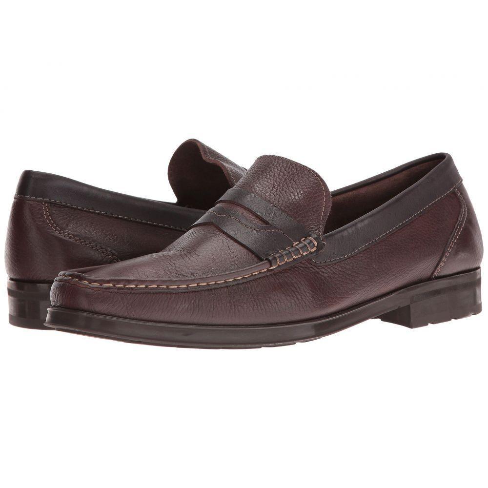 フローシャイム Florsheim メンズ ローファー シューズ・靴【Westbrooke Penny Loafer】Brown Milled/Brown Smooth