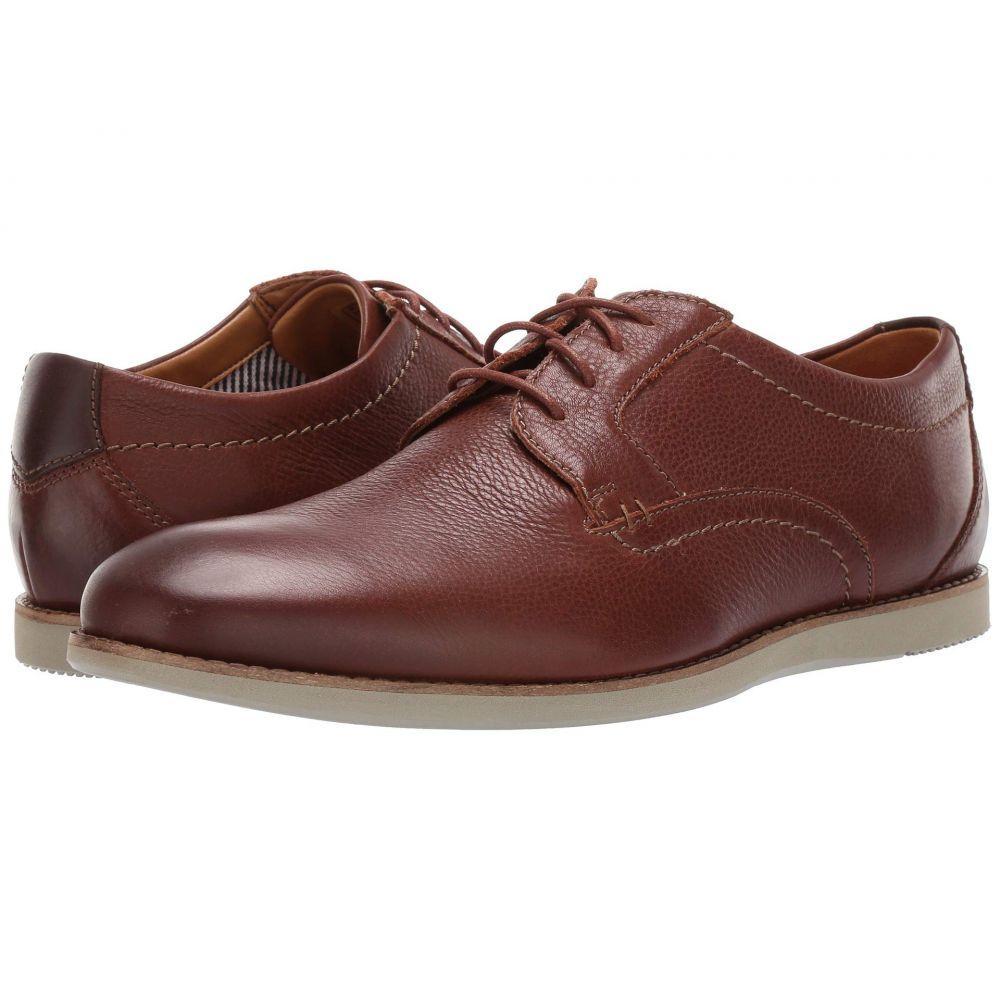 クラークス Clarks メンズ 革靴・ビジネスシューズ シューズ・靴【Raharto Plain】Brown Tumbled Leather