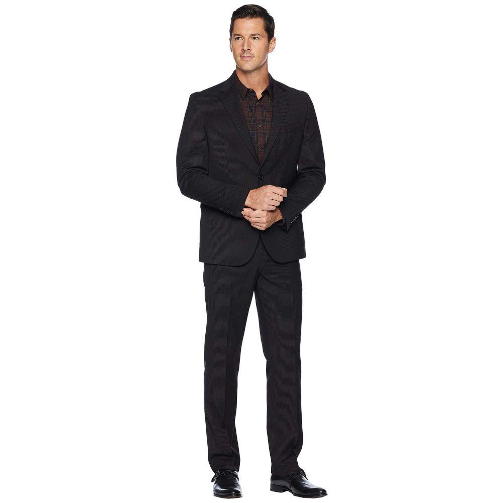 ドッカーズ Dockers メンズ スーツ・ジャケット アウター【Pre-Tailored 32 Finished Bottom Hem Suit】Black Stripe