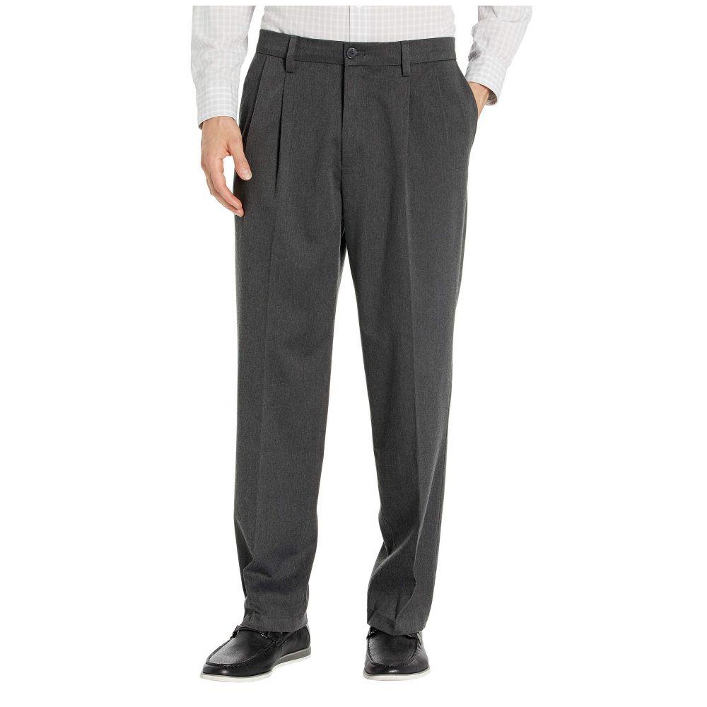 ドッカーズ Dockers メンズ ボトムス・パンツ 【Classic Fit Signature Khaki Lux Cotton Stretch Pants D3 - Pleated】Charcoal Heather