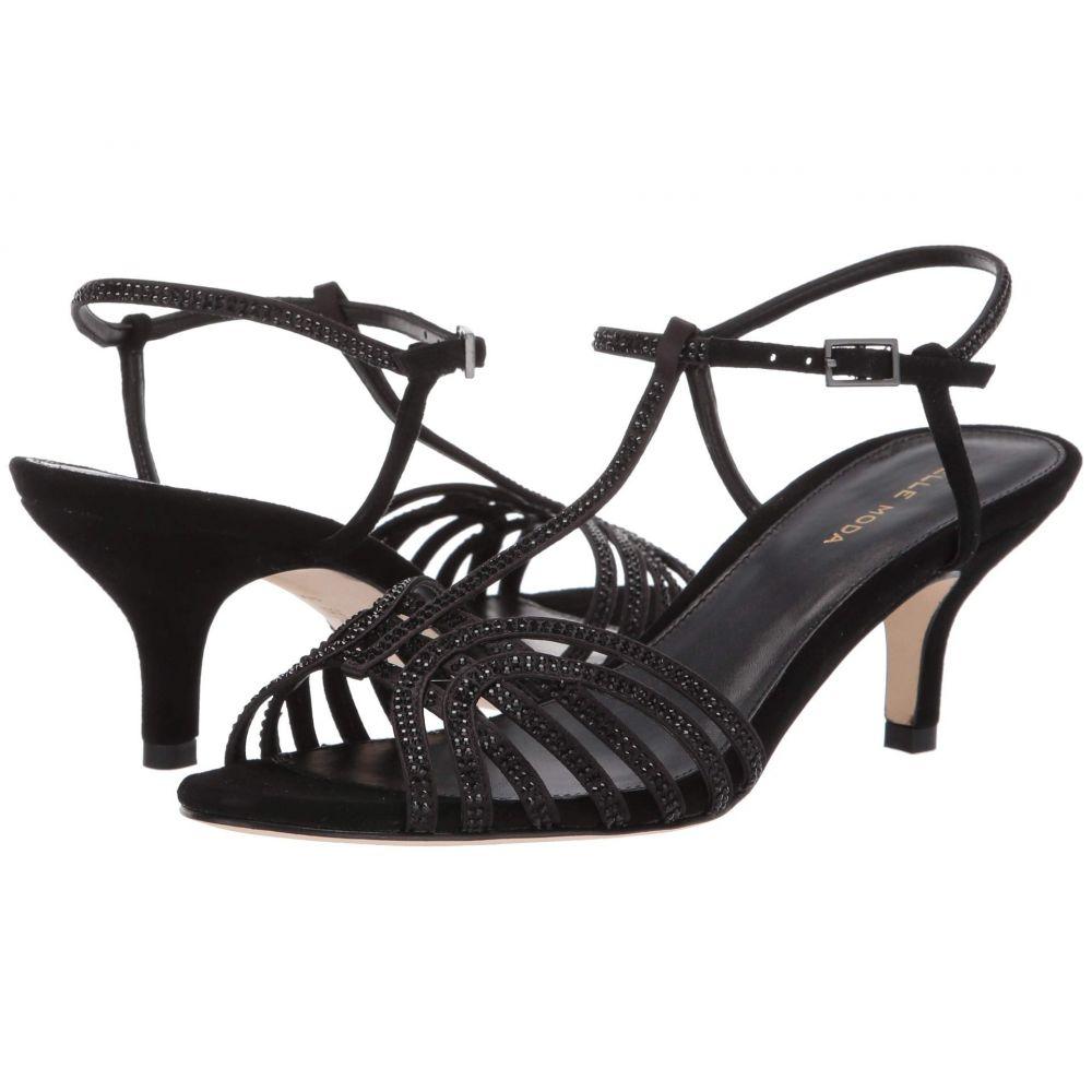 ペレ モーダ Pelle Moda レディース サンダル・ミュール シューズ・靴【Ilane】Black Satin