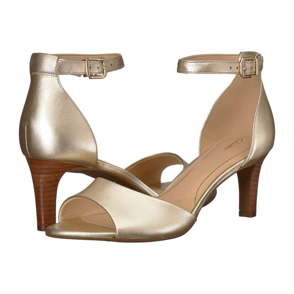 クラークス Clarks レディース サンダル・ミュール シューズ・靴【Laureti Grace】Champagne Metallic Leather
