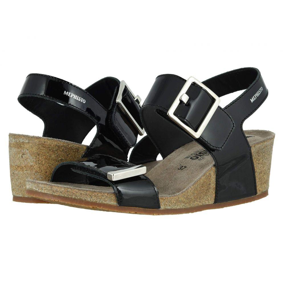 メフィスト Mephisto レディース サンダル・ミュール シューズ・靴【Morgana】Black Patent