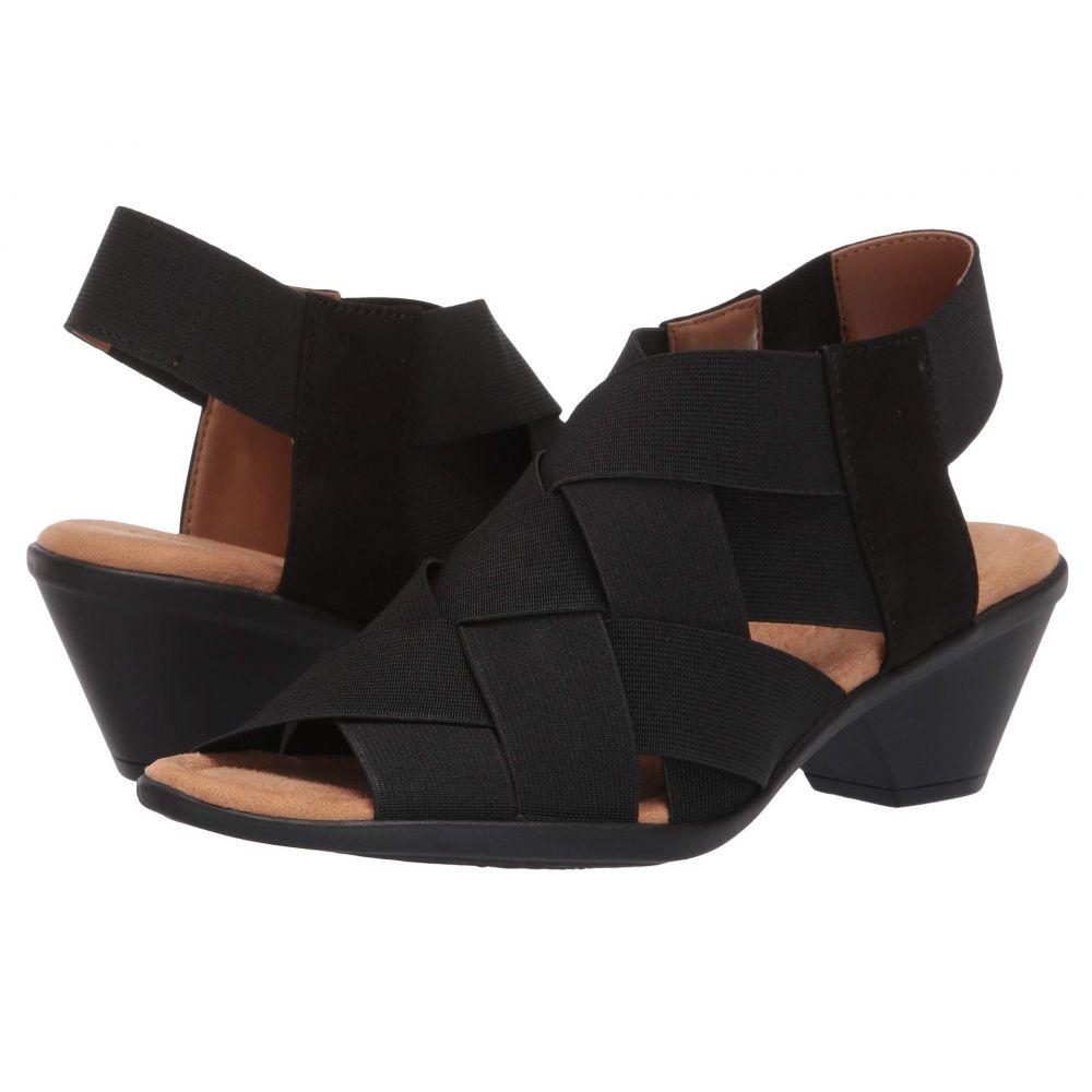 コンフォーティヴァ Comfortiva レディース サンダル・ミュール シューズ・靴【Farrow】Black Elastic