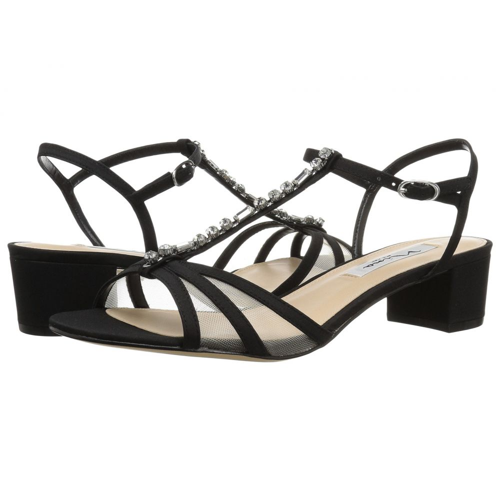 ニナ Nina レディース サンダル・ミュール シューズ・靴【Genova】Black Peau/Mesh