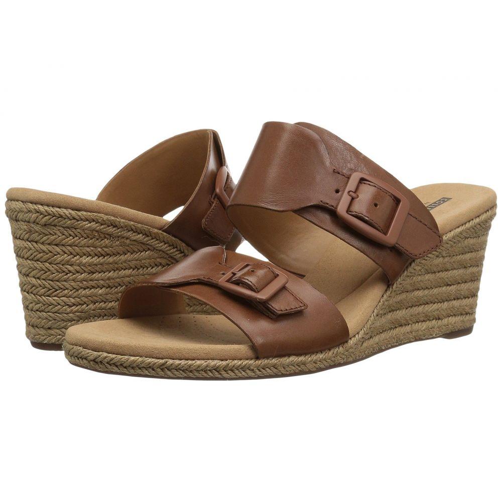 クラークス Clarks レディース サンダル・ミュール シューズ・靴【Lafley Devin】Dark Tan Leather