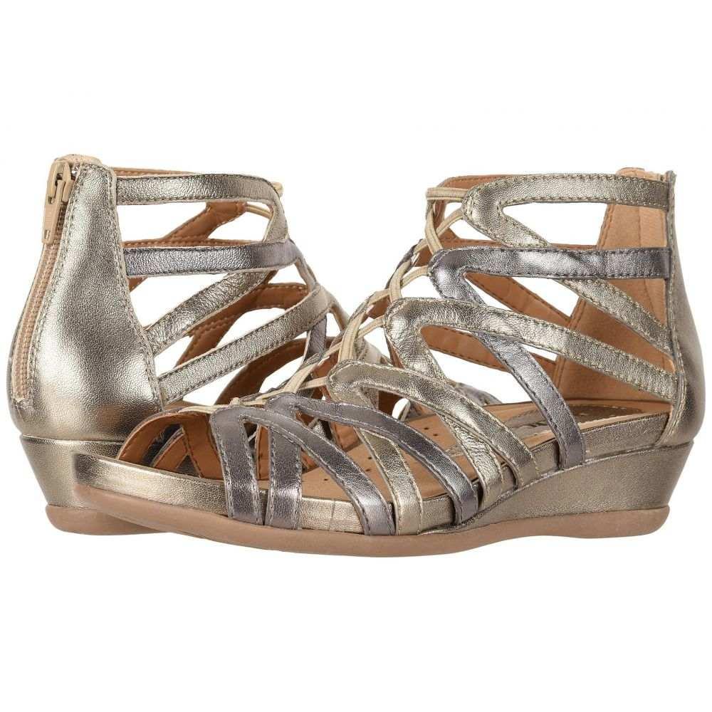 カルソーアースシューズ Earth レディース サンダル・ミュール シューズ・靴【Juno】Gunmetal Metallic Tumbled Leather