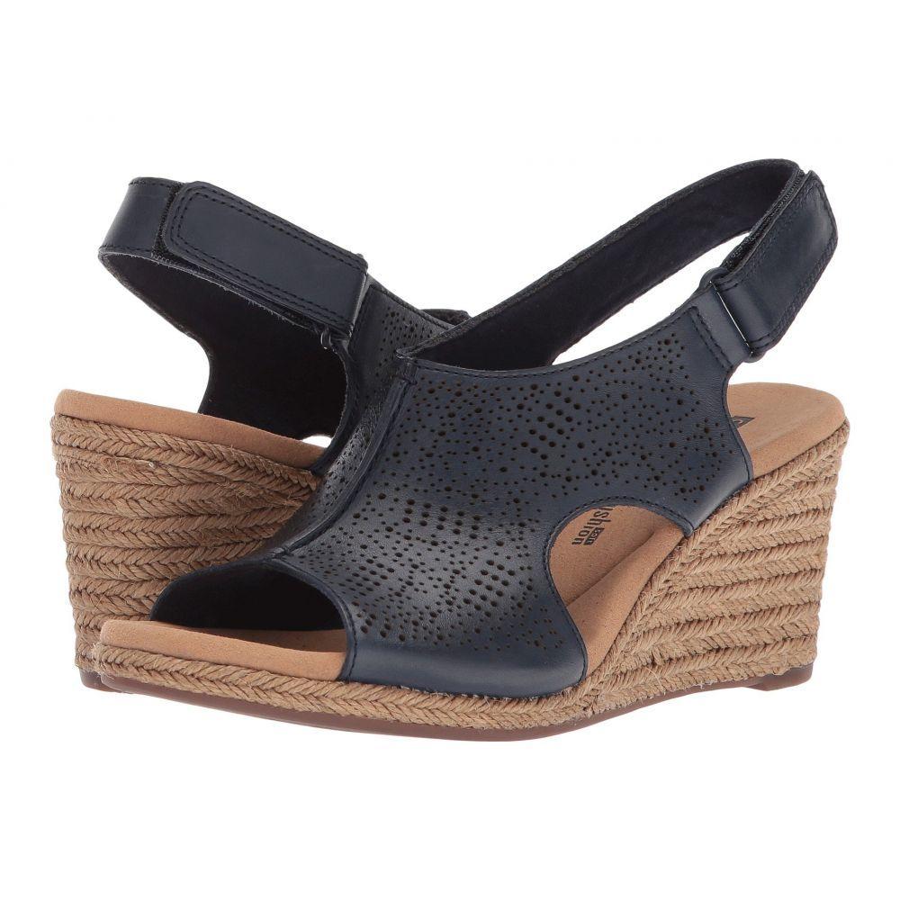 クラークス Clarks レディース サンダル・ミュール シューズ・靴【Lafley Rosen】Navy Leather