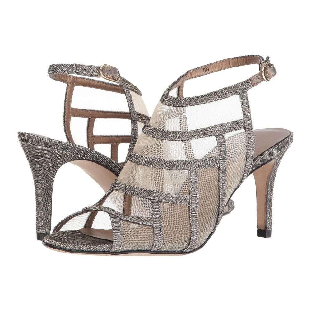 ヴァネリ Vaneli レディース サンダル・ミュール シューズ・靴【Tuccy】Platinum Nizza Fabric/Beige Mesh/Gold Buckle