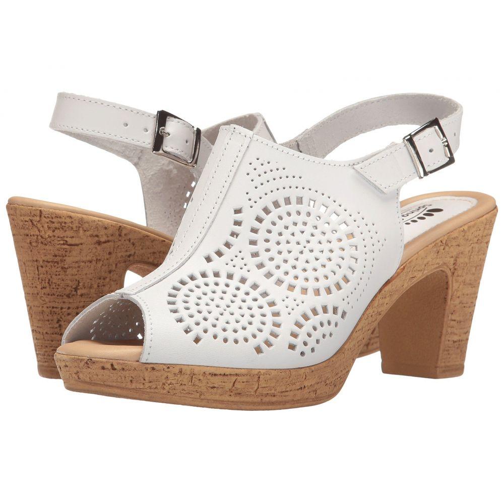 スプリングステップ Spring Step レディース サンダル・ミュール シューズ・靴【Liberty】White
