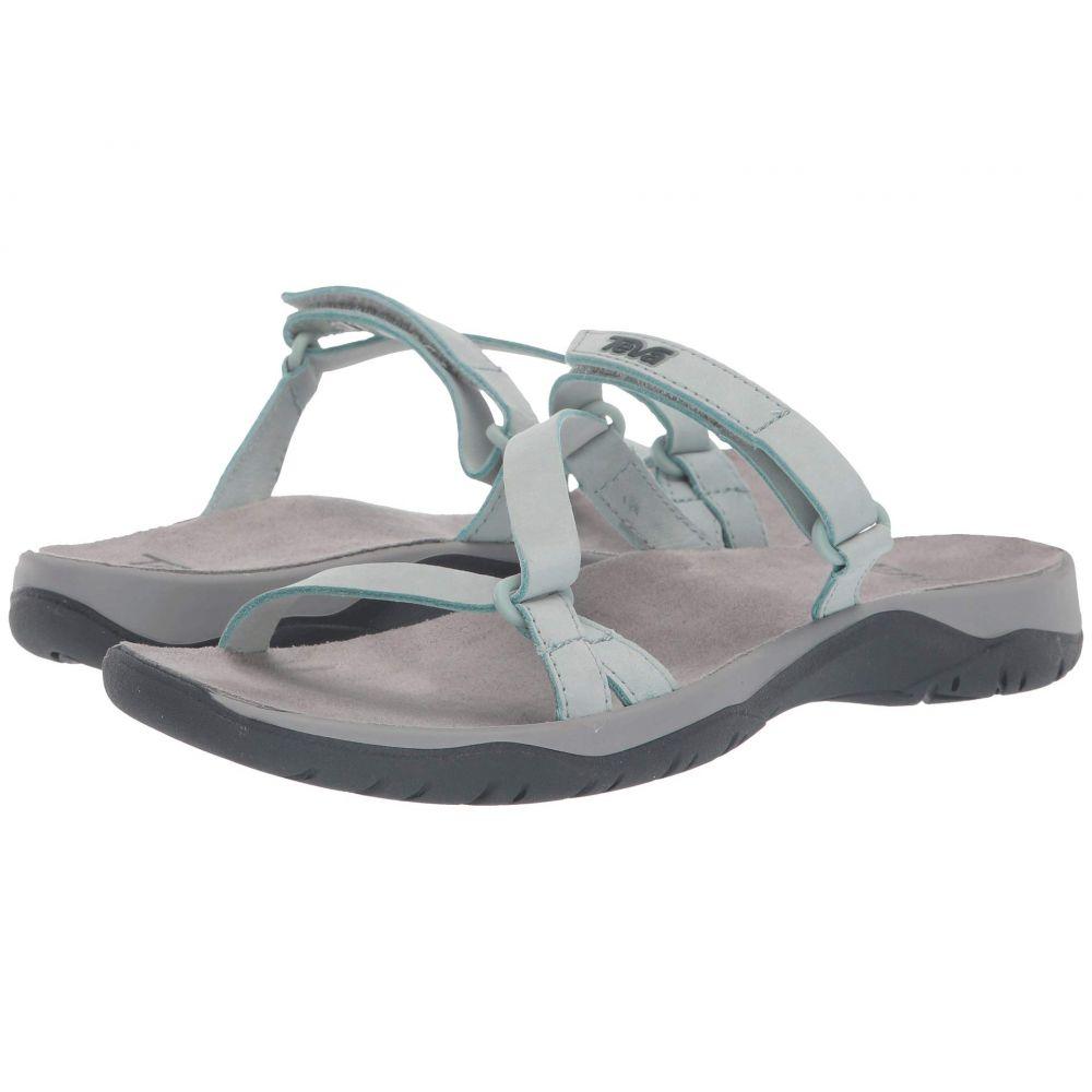 テバ Teva レディース サンダル・ミュール シューズ・靴【Elzada Slide Lea】Gray Mist