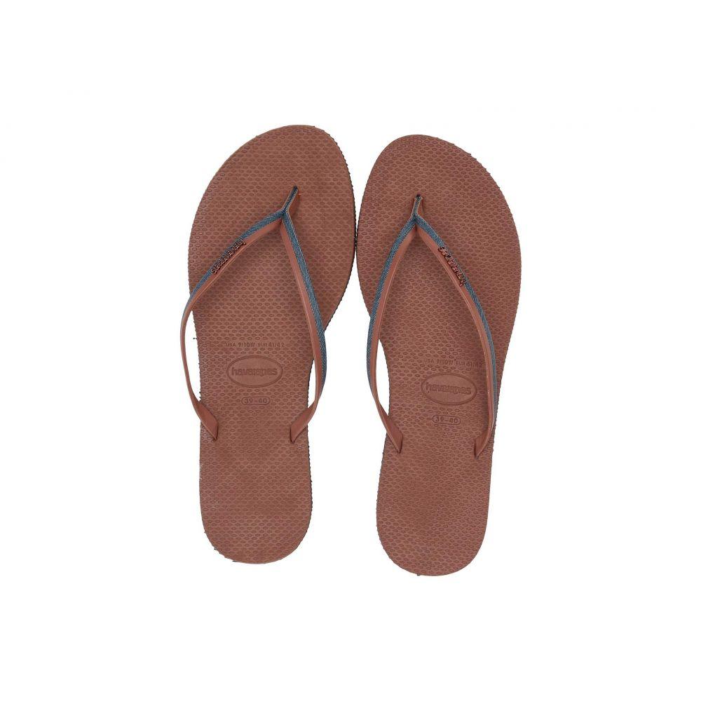 ハワイアナス Havaianas レディース ビーチサンダル シューズ・靴【You Jeans Sandal】Navy Blue/Rust