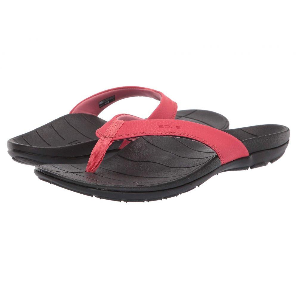 ソール SOLE レディース ビーチサンダル シューズ・靴【Baja Flip】Coral