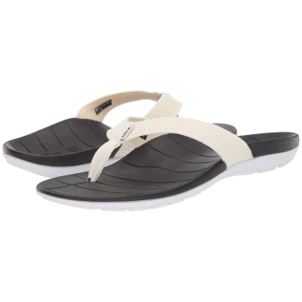 ソール SOLE レディース ビーチサンダル シューズ・靴【Costa Flip】White