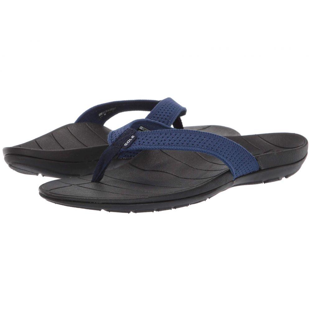 ソール SOLE レディース ビーチサンダル シューズ・靴【Costa Flip】Navy