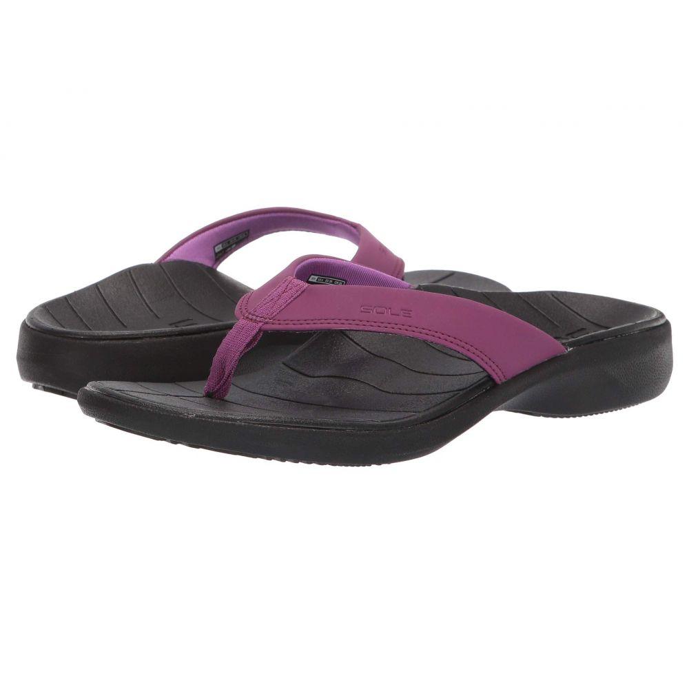 ソール SOLE レディース ビーチサンダル シューズ・靴【Catalina Flip】Violet