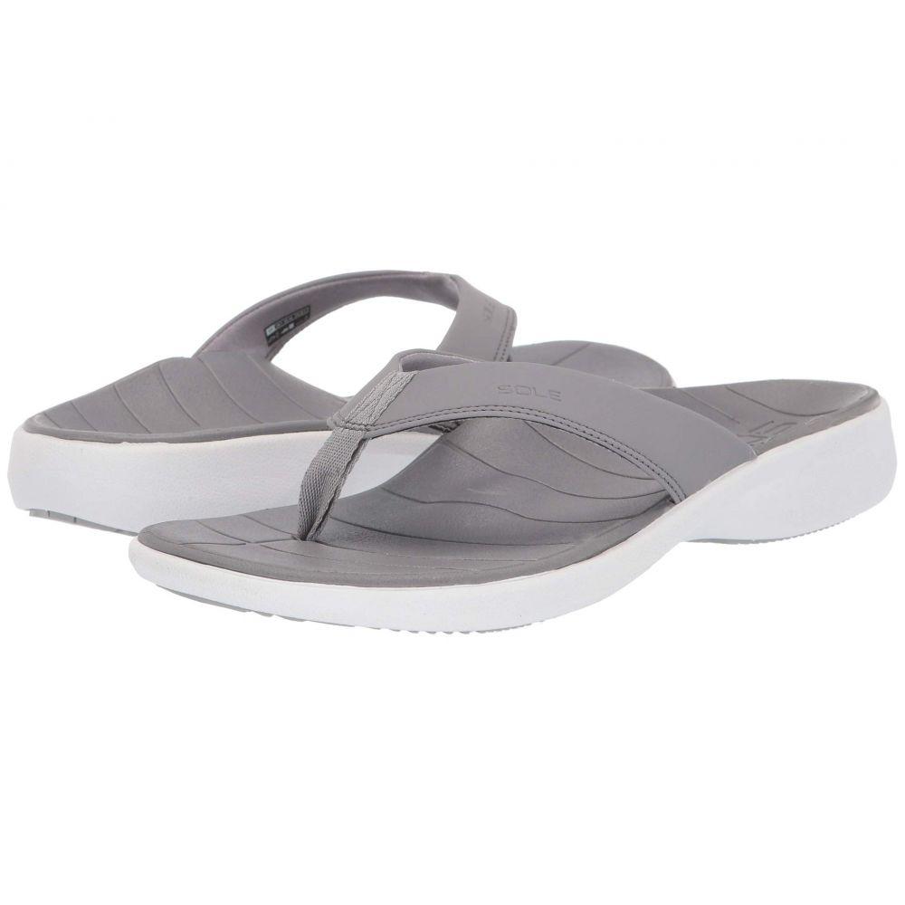 ソール SOLE レディース ビーチサンダル シューズ・靴【Catalina Flip】Grey/White
