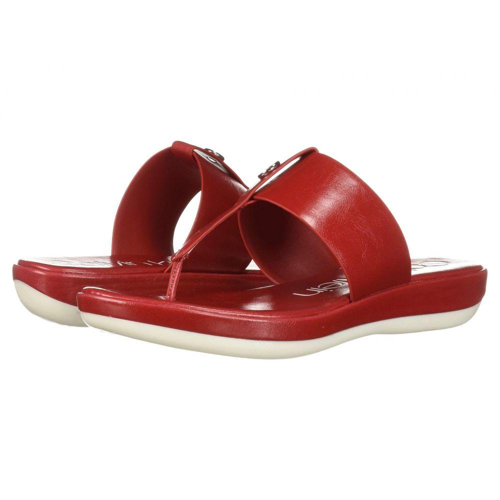 カルバンクライン Calvin Klein レディース ビーチサンダル シューズ・靴【Kimmy】Scarlet Varnished Crackled