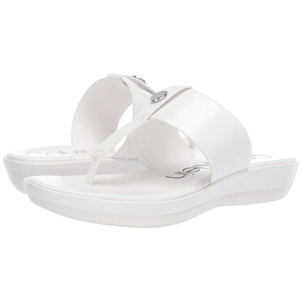 カルバンクライン Calvin Klein レディース ビーチサンダル シューズ・靴【Kimmy】White Varnished Crackled