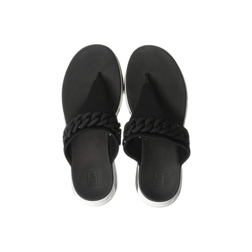 フィットフロップ FitFlop レディース ビーチサンダル シューズ・靴【Heda Chain Toe-Thong】Black