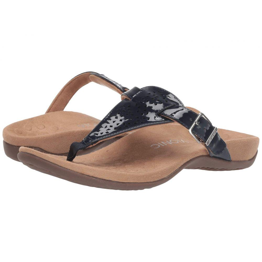 バイオニック VIONIC レディース ビーチサンダル シューズ・靴【Tropez】Navy Patent