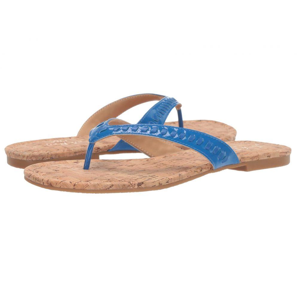 ジャックロジャース Jack Rogers レディース ビーチサンダル シューズ・靴【Collins Flip-Flop】Cobalt Blue Patent