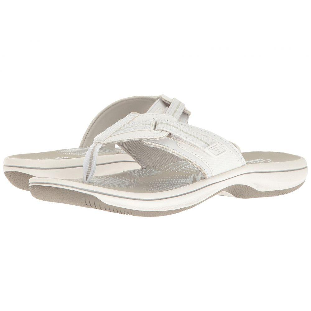 クラークス Clarks レディース ビーチサンダル シューズ・靴【Brinkley Jazz】White Synthetic