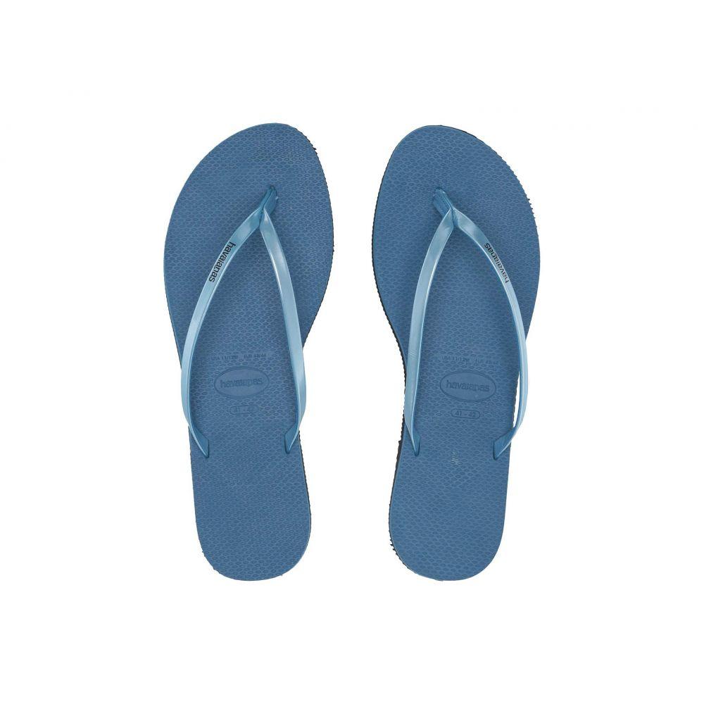 ハワイアナス Havaianas レディース ビーチサンダル シューズ・靴【You Metallic Flip Flops】Steel Blue